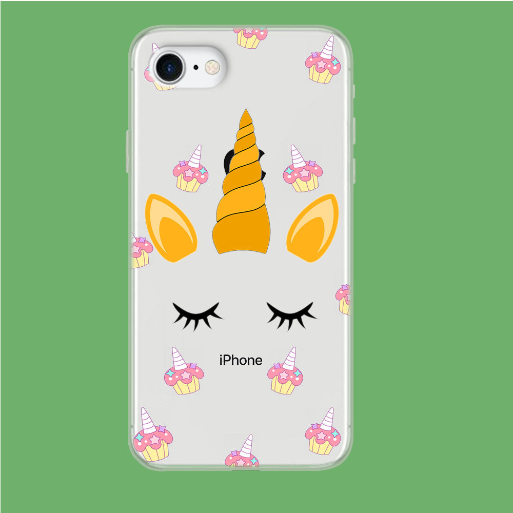 Unicorn Face Cake iPhone 8 Clear Case