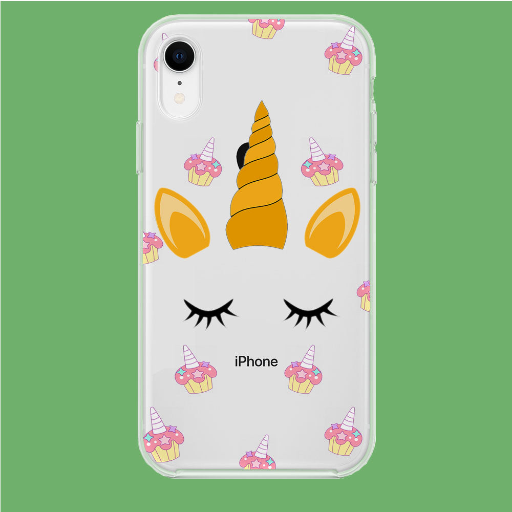 Unicorn Face Cake iPhone XR Clear Case