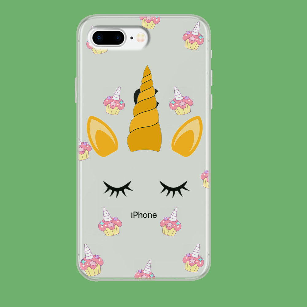 Unicorn Face Cake iPhone 8 Plus Clear Case
