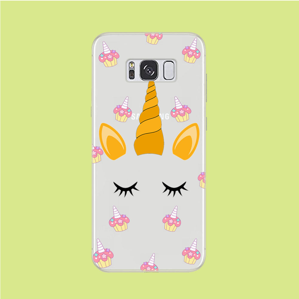 Unicorn Face Cake Samsung Galaxy S8 Clear Case