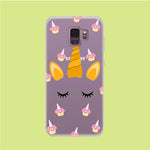 Unicorn Face Cake Samsung Galaxy S9 Clear Case