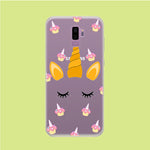 Unicorn Face Cake Samsung Galaxy S9 Plus Clear Case