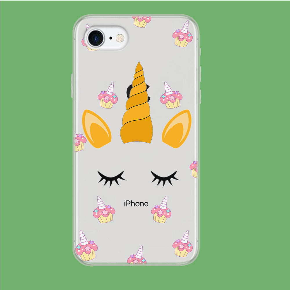 Unicorn Face Cake iPhone 7 Clear Case