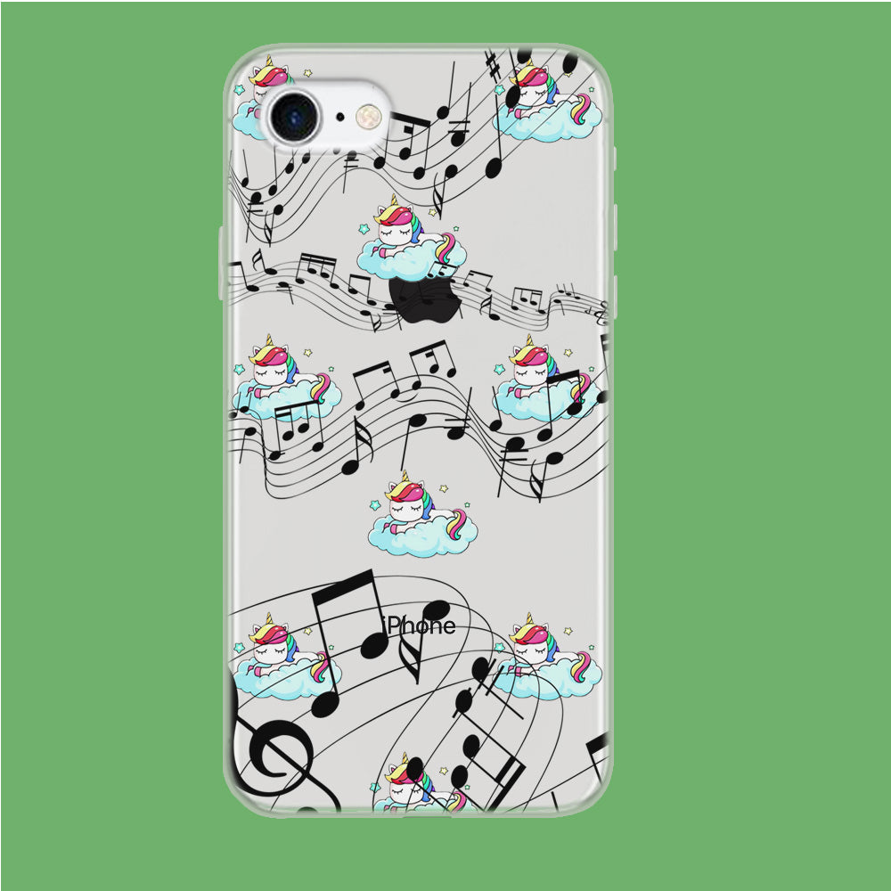 Unicorn Sleeping With Music iPhone 7 Clear Case