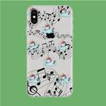 Unicorn Sleeping With Music iPhone X Clear Case