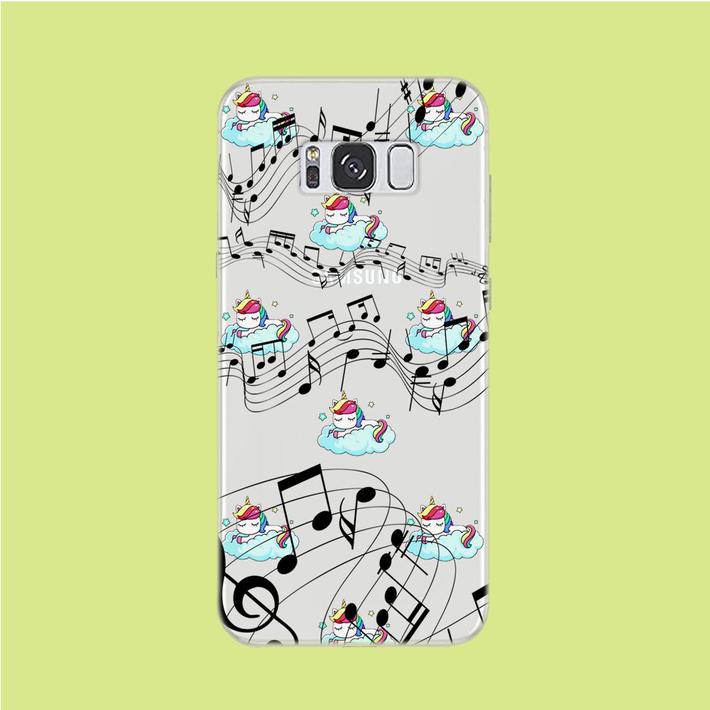 Unicorn Sleeping With Music Samsung Galaxy S8 Clear Case