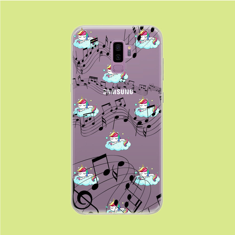 Unicorn Sleeping With Music Samsung Galaxy S9 Plus Clear Case