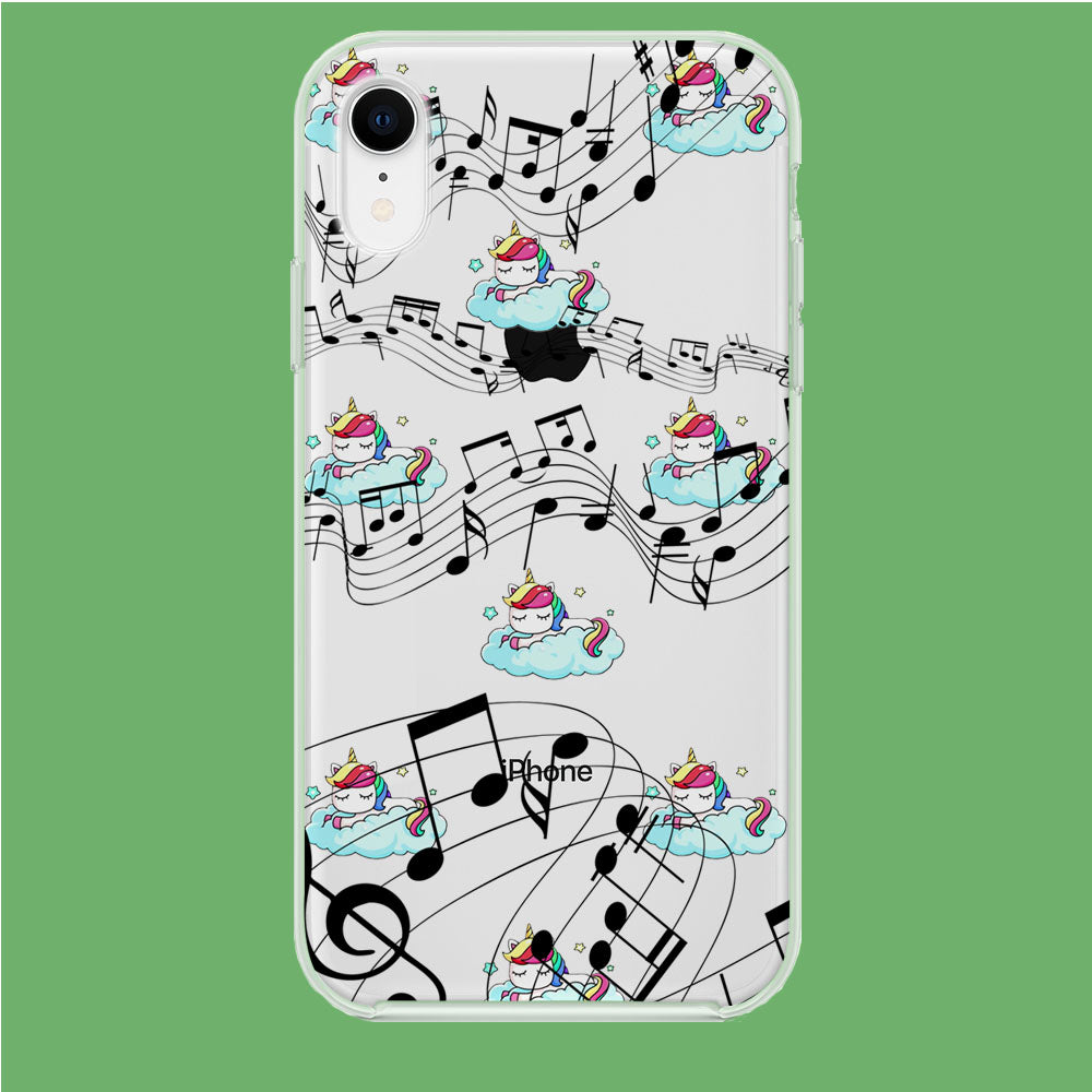Unicorn Sleeping With Music iPhone XR Clear Case