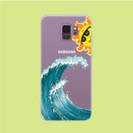 Wave Ocean Hide Sun Samsung Galaxy S9 Clear Case