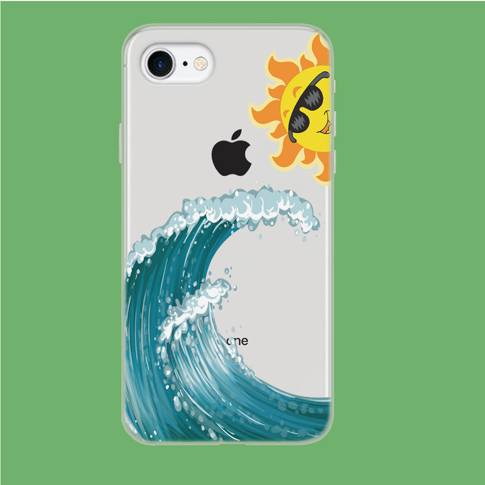 Wave Ocean Hide Sun iPhone 7 Clear Case