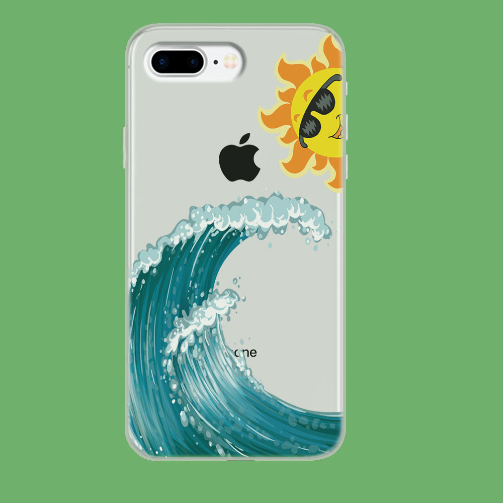 Wave Ocean Hide Sun iPhone 8 Plus Clear Case
