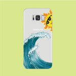 Wave Ocean Hide Sun Samsung Galaxy S8 Clear Case