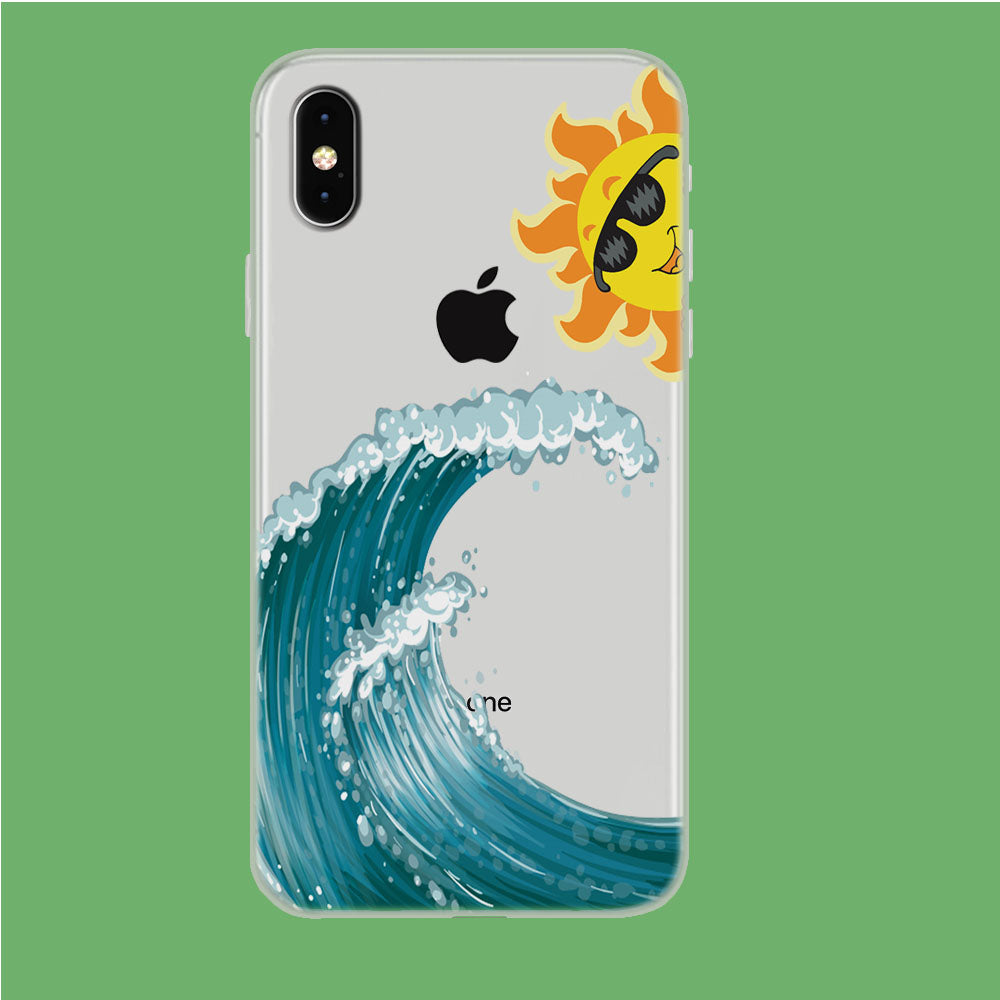 Wave Ocean Hide Sun iPhone Xs Max Clear Case