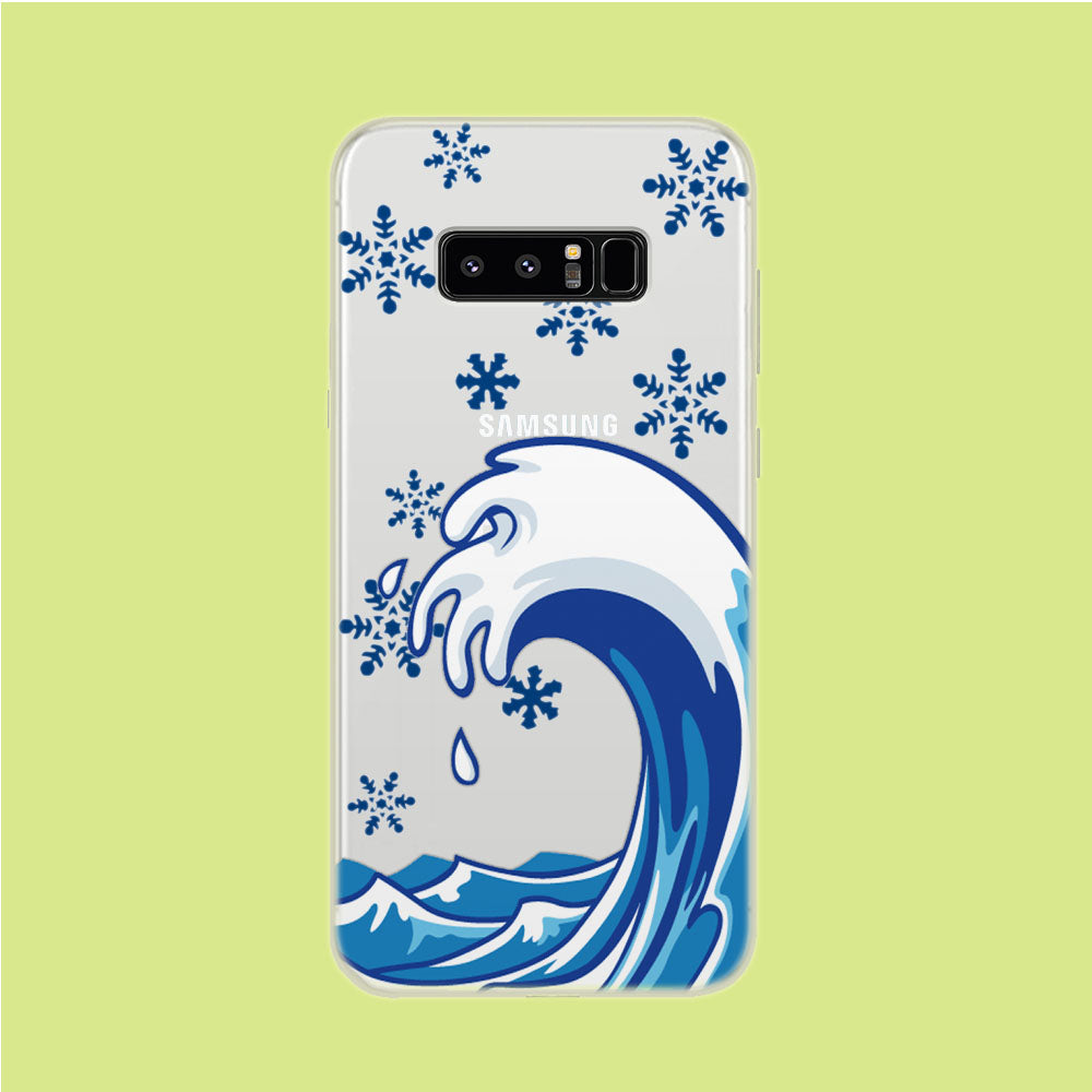 Wave Ocean Snowflake Samsung Galaxy Note 8 Clear Case