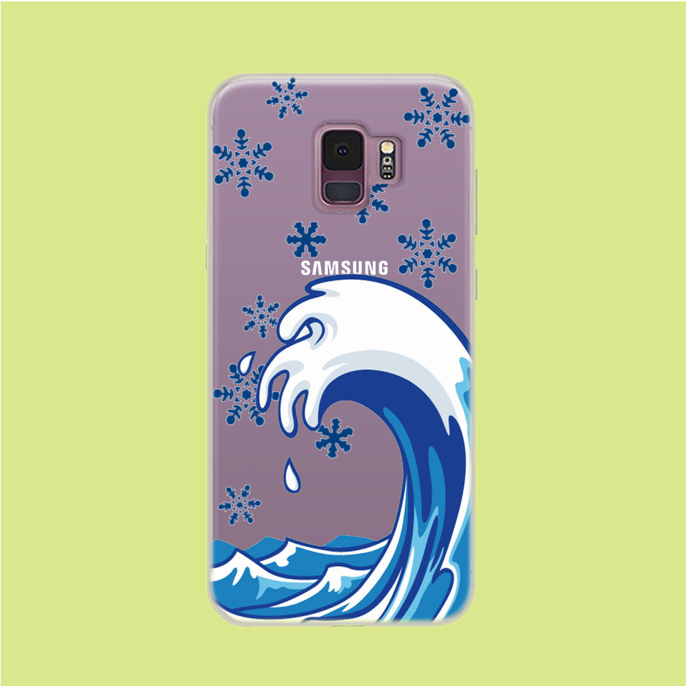 Wave Ocean Snowflake Samsung Galaxy S9 Clear Case