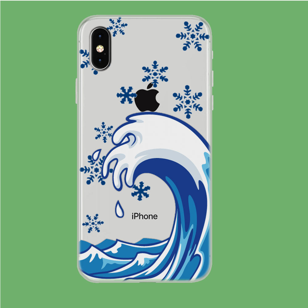 Wave Ocean Snowflake iPhone Xs Max Clear Case