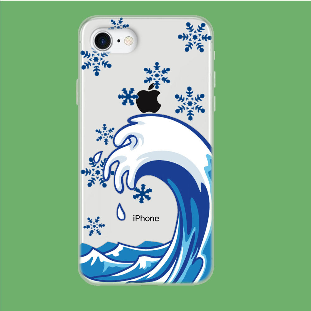 Wave Ocean Snowflake iPhone 8 Clear Case