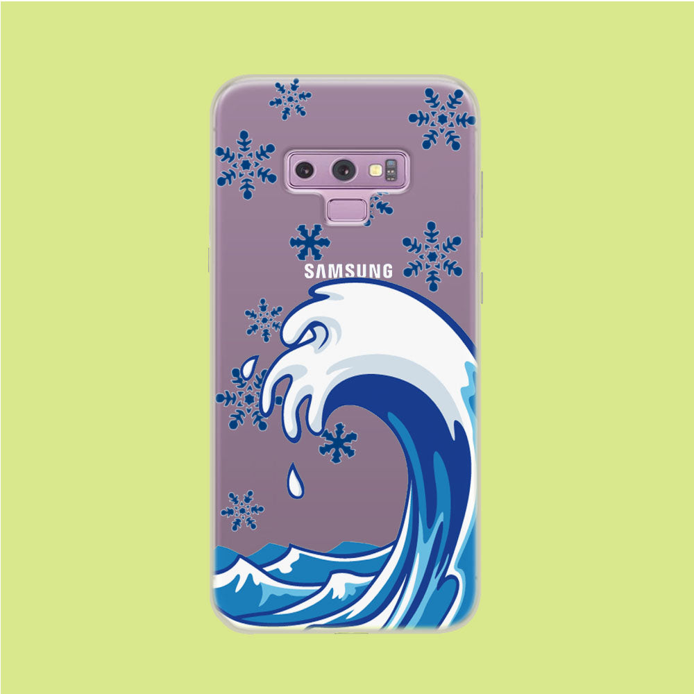 Wave Ocean Snowflake Samsung Galaxy Note 9 Clear Case