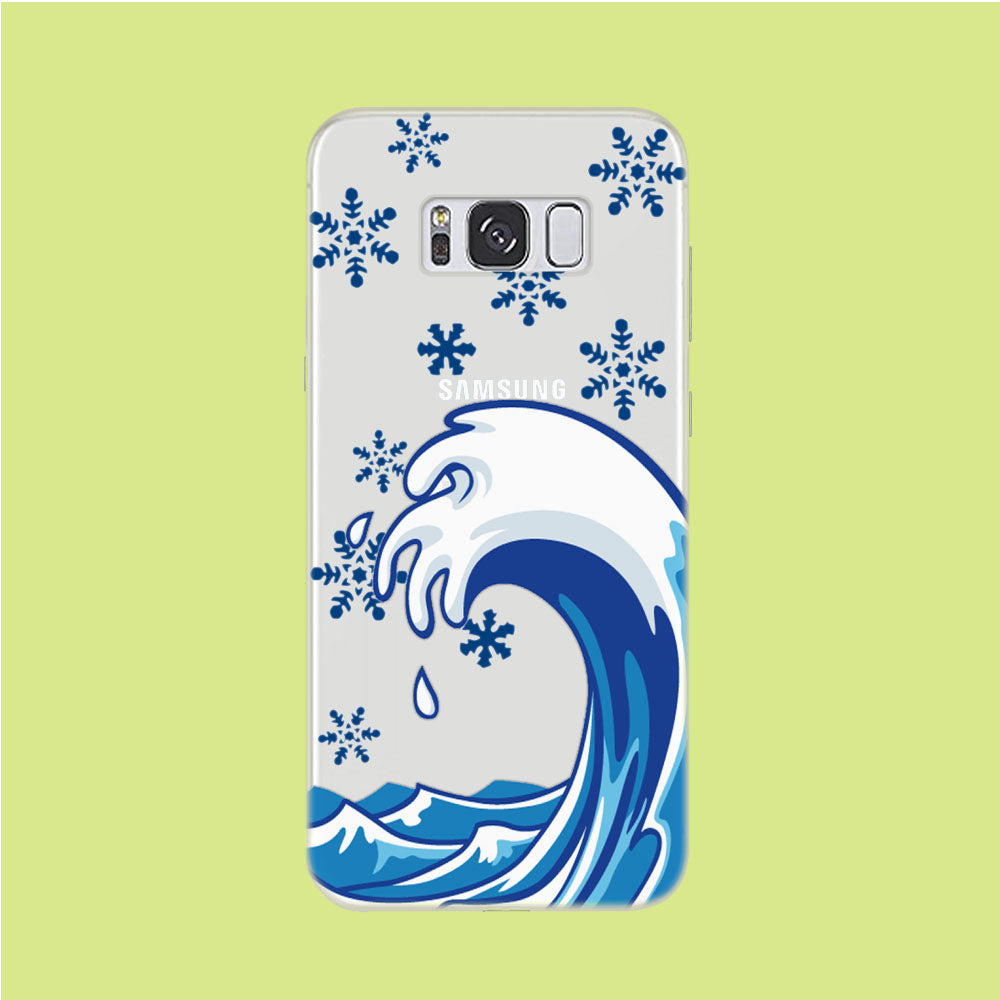 Wave Ocean Snowflake Samsung Galaxy S8 Clear Case