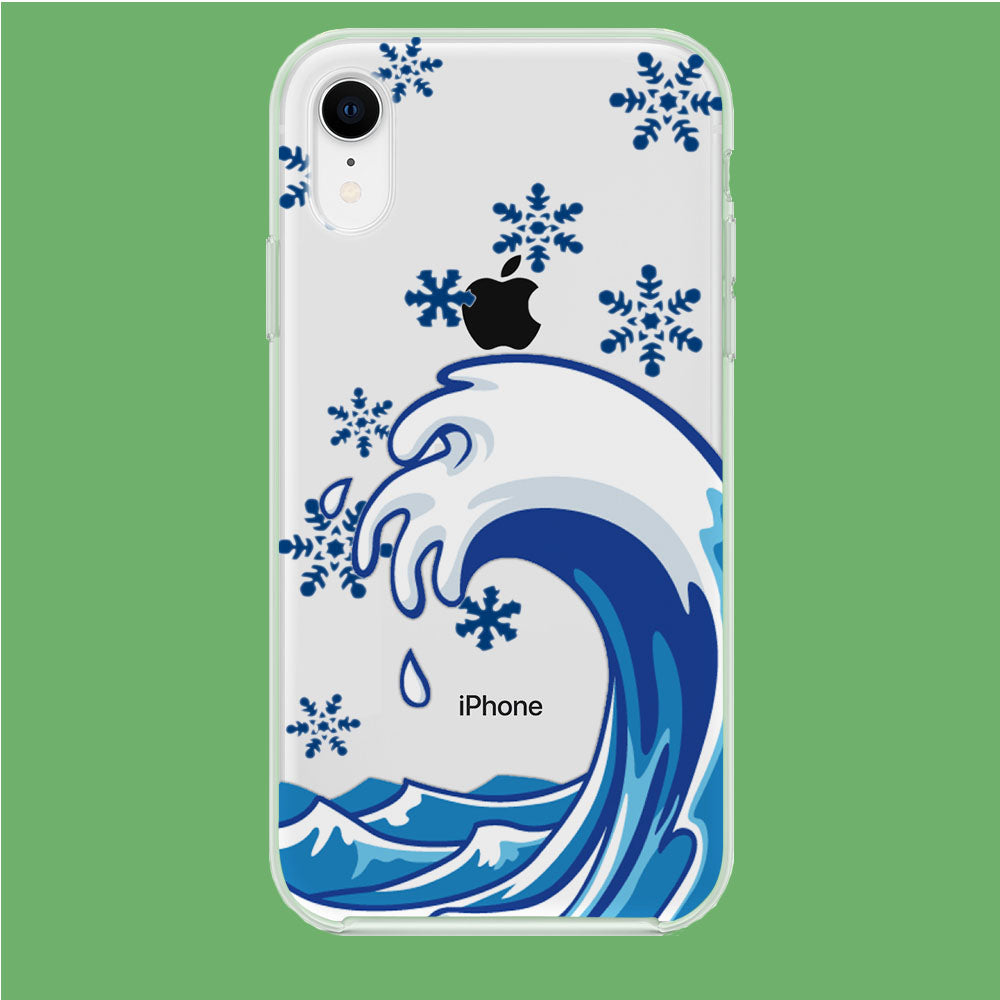 Wave Ocean Snowflake iPhone XR Clear Case