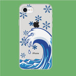 Wave Ocean Snowflake iPhone 7 Clear Case