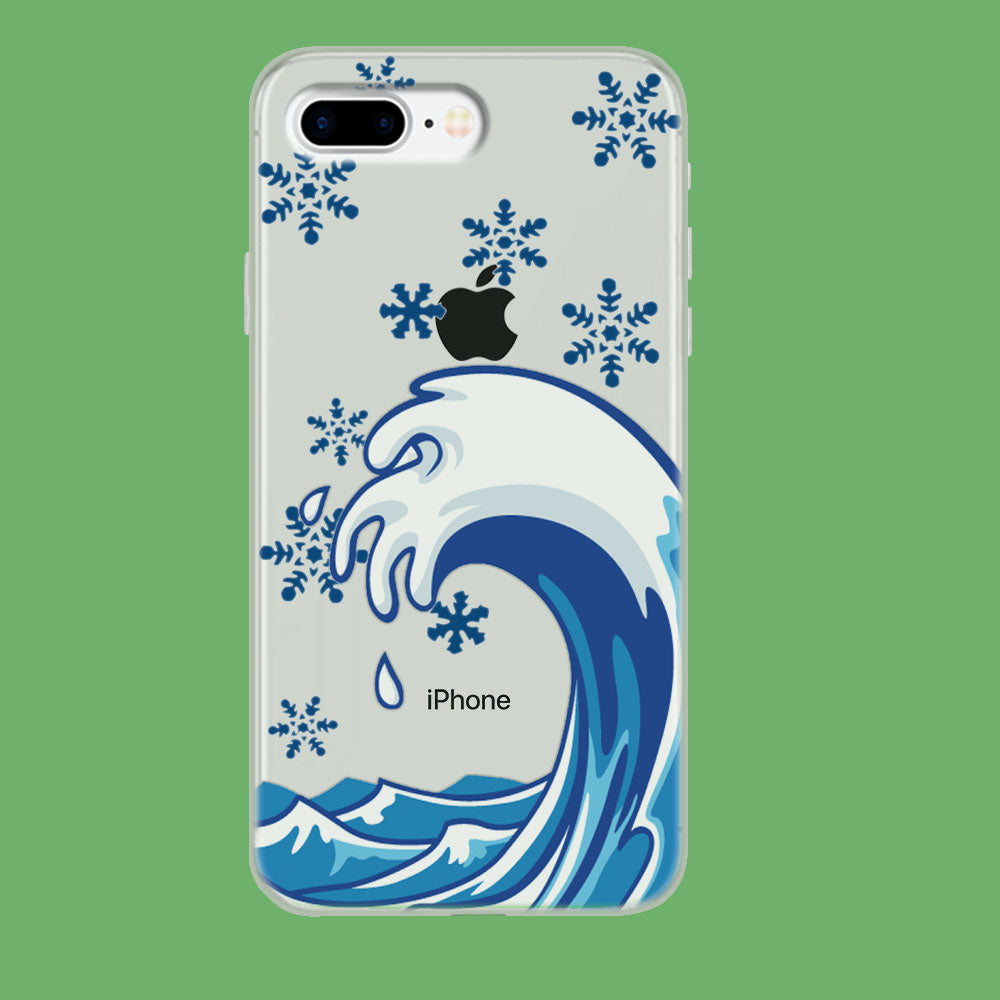 Wave Ocean Snowflake iPhone 8 Plus Clear Case