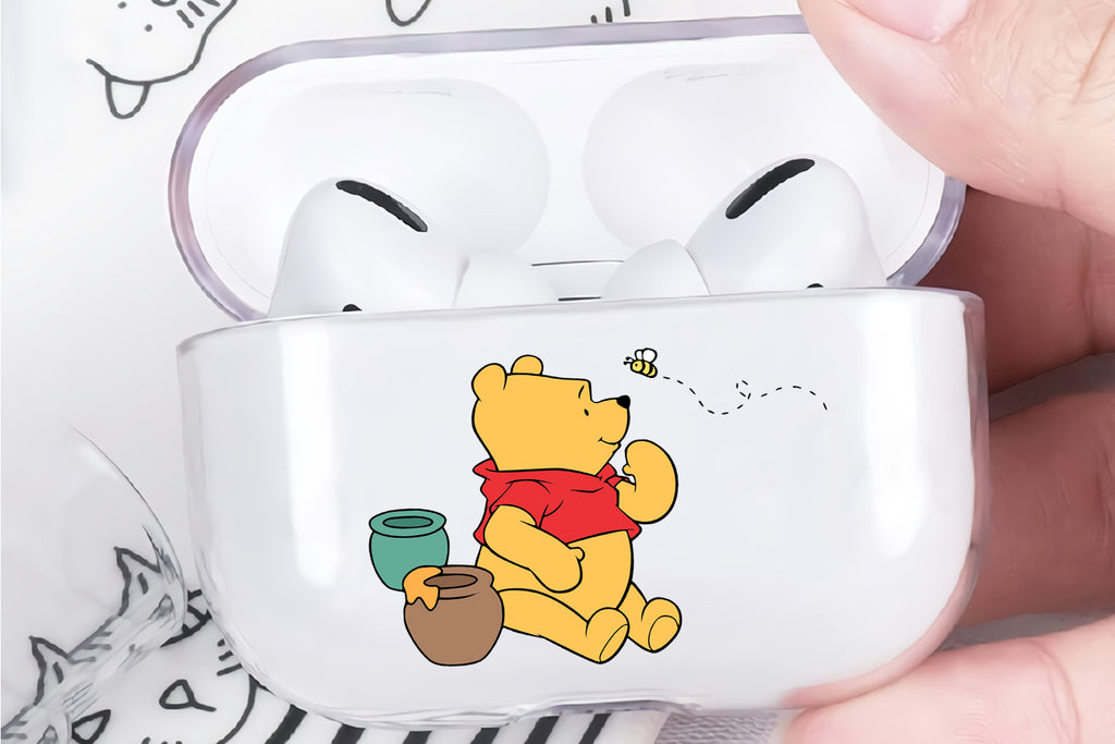 Winnie The Pooh Hooney Pot Protective Clear Case Cover For Apple Airpod Pro