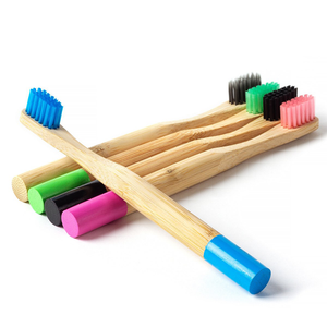 Pack 6x Bamboo Brushes For Children + 1 FREE BAMBOO STRAW