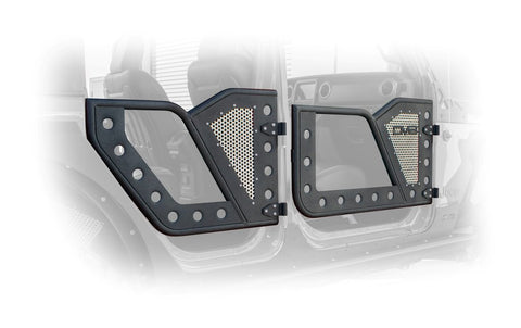 JEEP JL ROCK DOOR W/ PERFORATED ALUMINUM MESH 18-PRESENT WRANGLER JL 4 DOOR DV8
