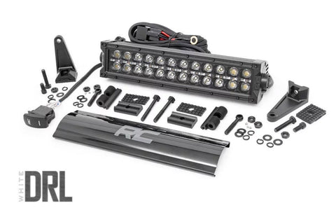 RC 12-INCH CREE LED LIGHT BAR - (DUAL ROW | BLACK SERIES W/ COOL WHITE DRL)