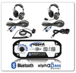 Rugged Radio 2-Place Intercom with AlphaBass Headsets