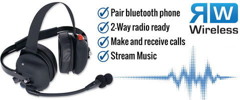 Rugged RadioWireless Cell Phone Headset with 2-way Radio Interface