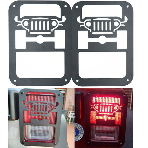 2 X Tail Lamp Tail Light Cover Trim Guards Protector for Jeep Wrangler