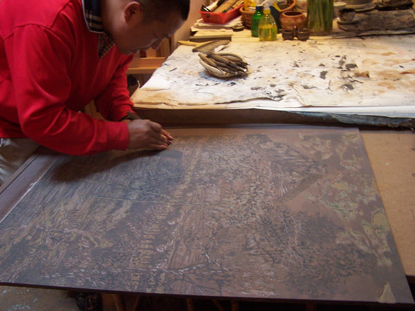 Reduction woodcut Chinese master