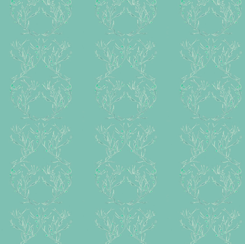 Searching for Bladderwrack Wallpaper - Seafoam Green