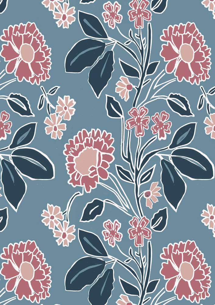 Giclée Print Honiton Lace - Branscombe Blue