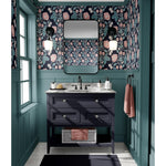 Honiton Lace Wallpaper - Noir