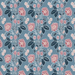 Load image into Gallery viewer, Honiton Lace Wallpaper - Branscombe Blue