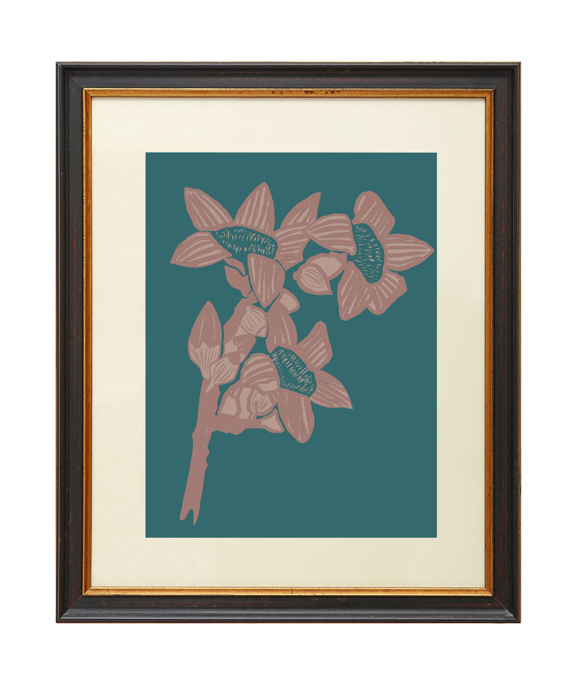 Load image into Gallery viewer, Giclée Print The Red Cotton Tree - Indian Teal