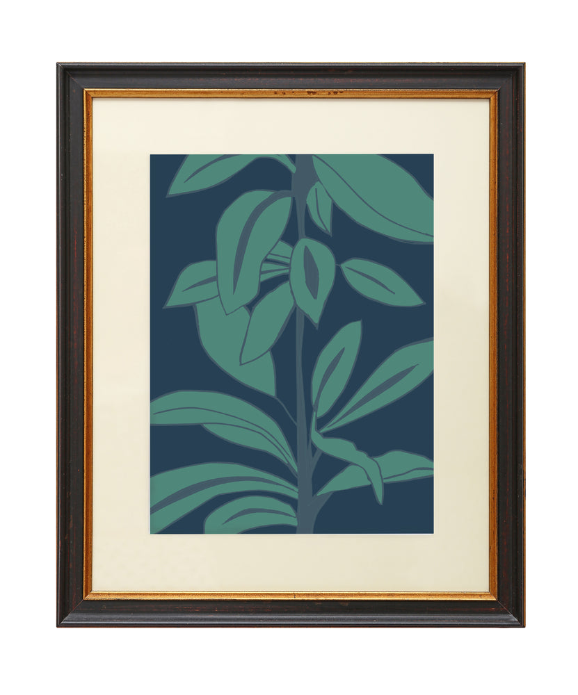 Load image into Gallery viewer, Giclée Print Rubber Plant - Leaves at Midnight