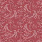 Chattering of Choughs Wallpaper - Red Topaz