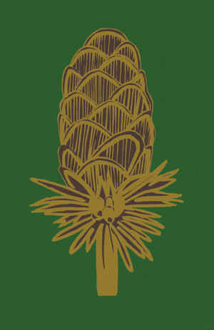 Load image into Gallery viewer, Giclée Print Where the Wild Teasels Were - Amber and Umber