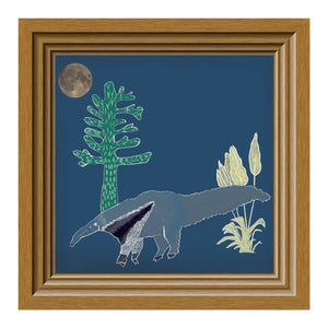 Load image into Gallery viewer, Giclée Print The Anteater - Midnight Blue