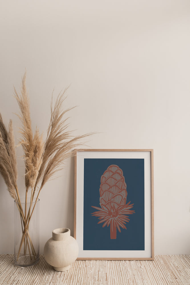 Giclée Print Where the Wild Teasels Were - Ibis and Indigo