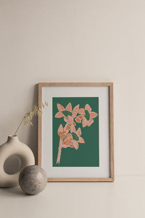 Load image into Gallery viewer, Giclée Print The Red Cotton Tree - Jade