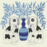 Giclée Print Pair of Dogs - Delft Blue