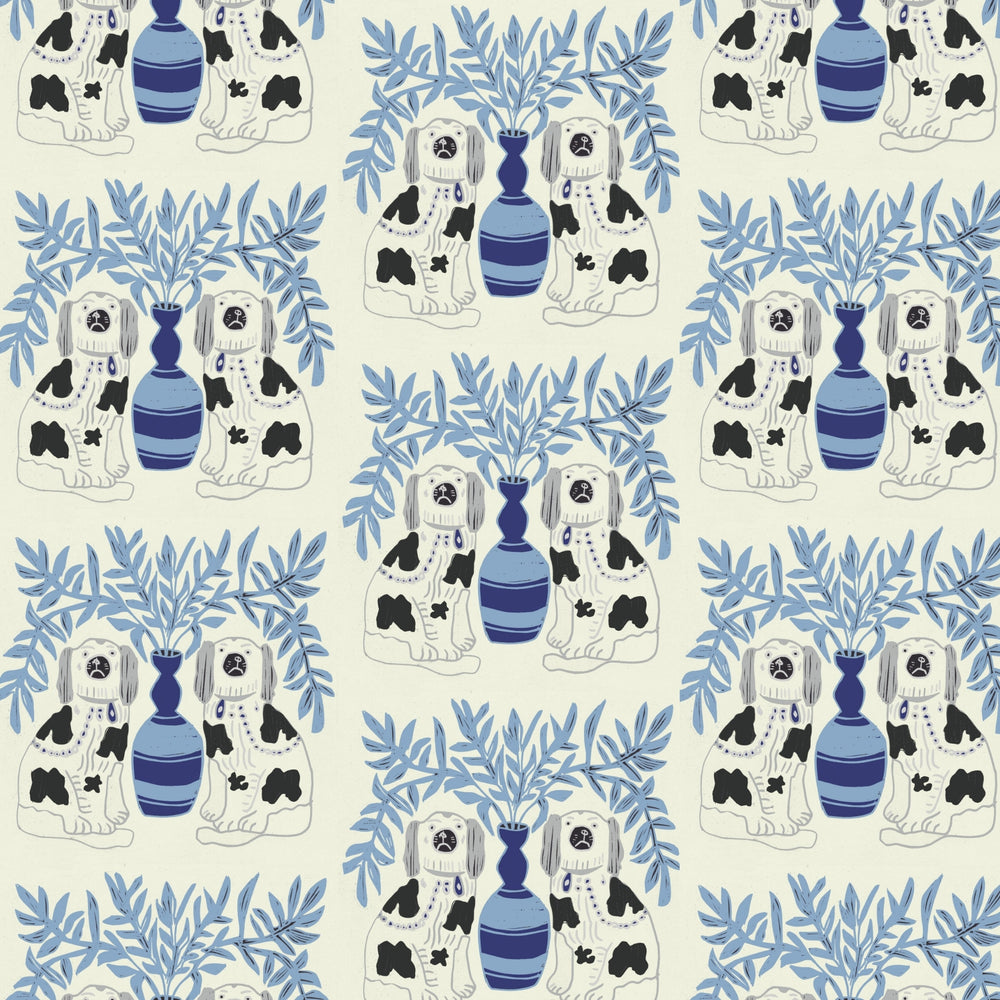 Load image into Gallery viewer, SAMPLE Pair of Dogs - Delft Blue