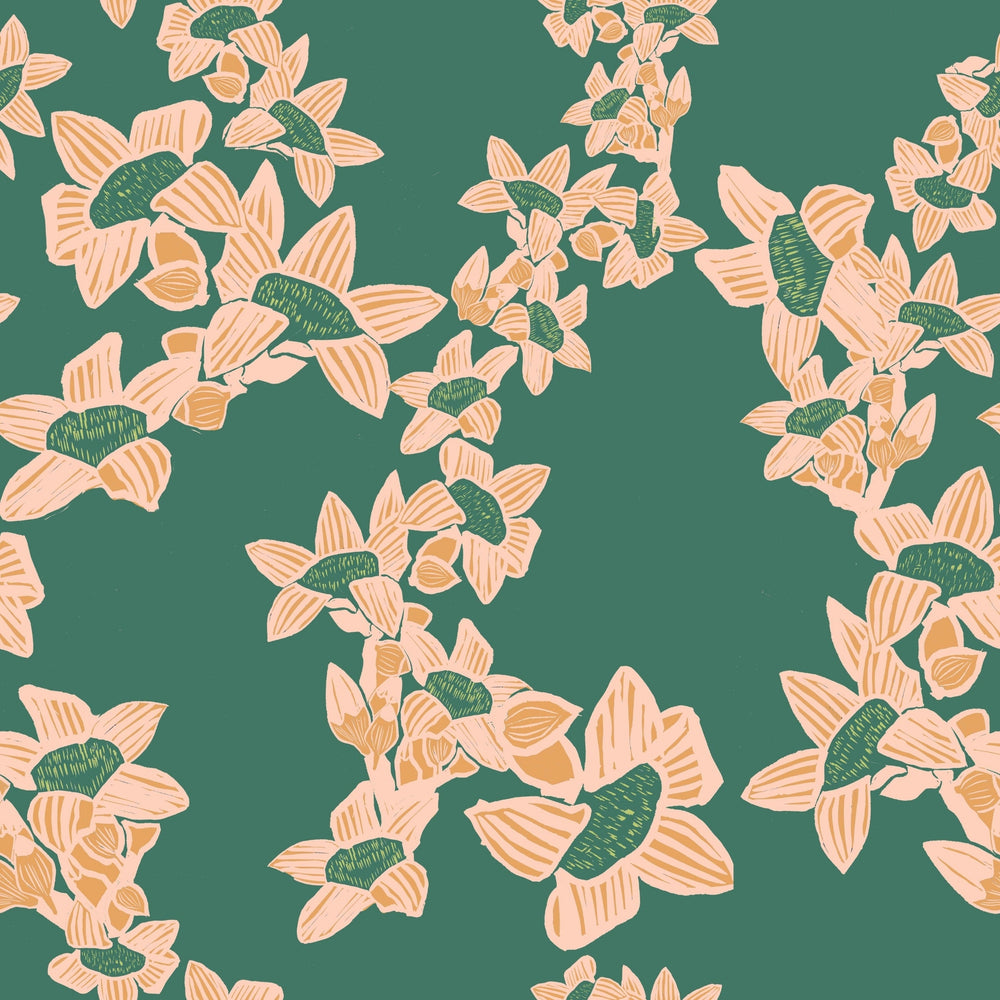The Red Cotton Tree Wallpaper - Jade