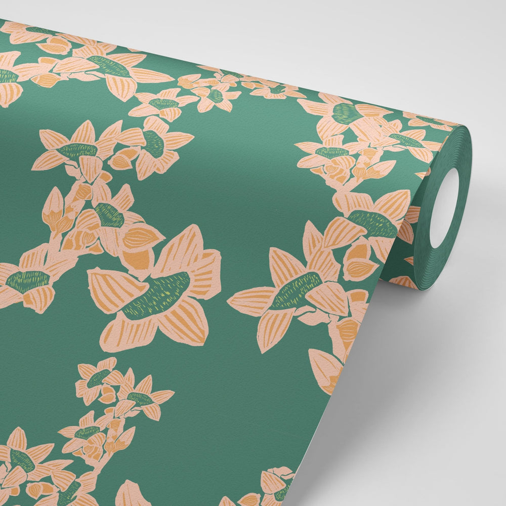 Load image into Gallery viewer, The Red Cotton Tree Wallpaper - Jade