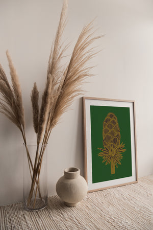Giclée Print Where the Wild Teasels Were - Amber and Umber